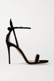 Aquazzura Deneuve 105 bow-embellished suede sandals