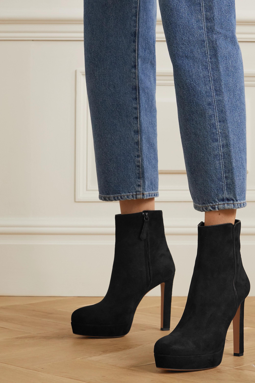 Aquazzura Quant 120 suede platform ankle boots