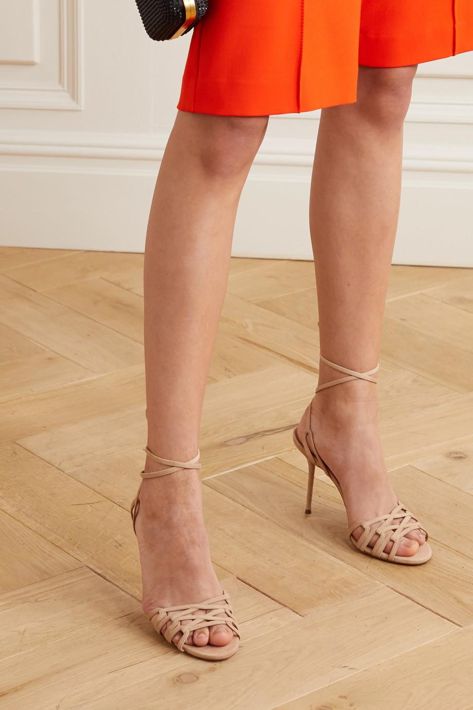Aquazzura Azur 95 suede sandals