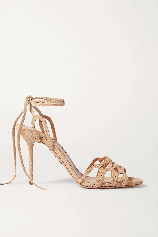Neutral Azur 95 suede sandals