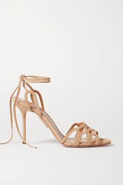 Aquazzura Azur 95 suede sandals