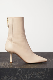 Aquazzura Curzon 75 leather ankle boots