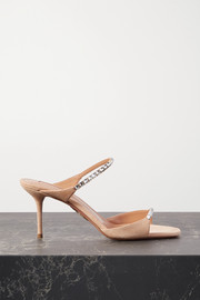 Aquazzura Diamante 75 crystal-embellished suede sandals