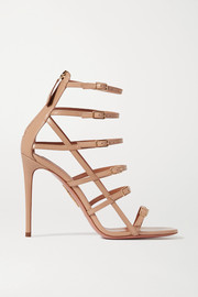 Aquazzura Super Model 105 buckled leather sandals