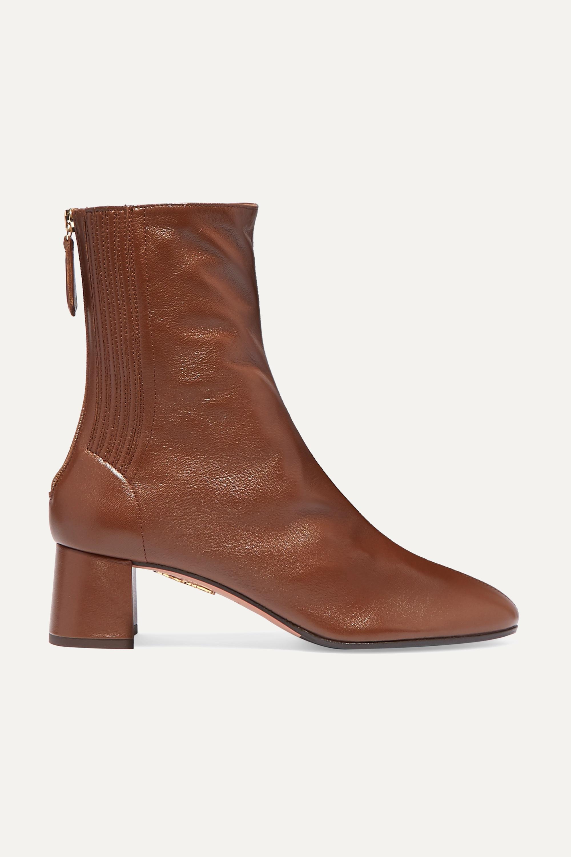 Aquazzura Saint Honoré 50 leather ankle boots