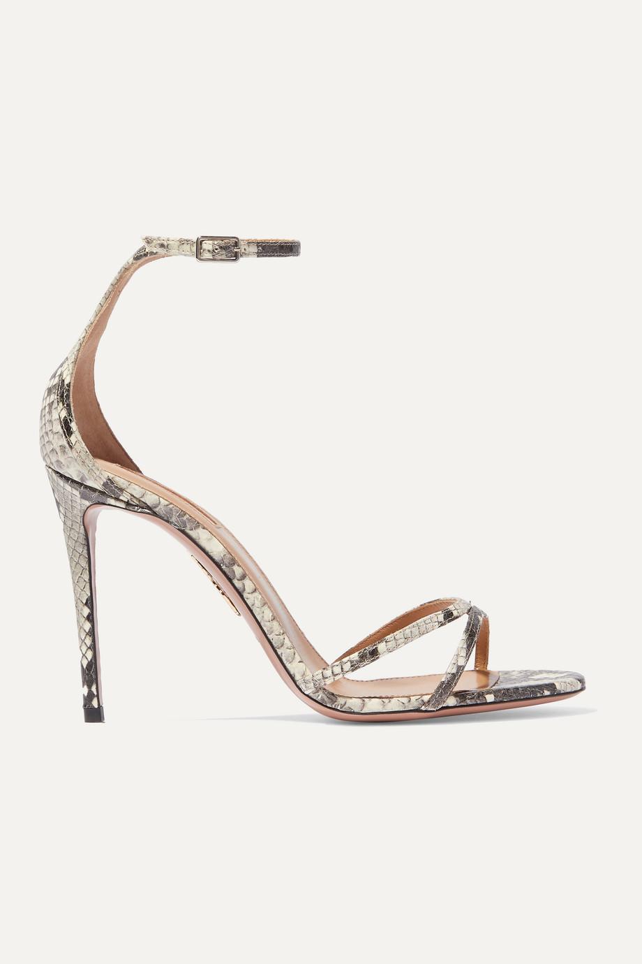 Aquazzura Purist 105 elaphe sandals