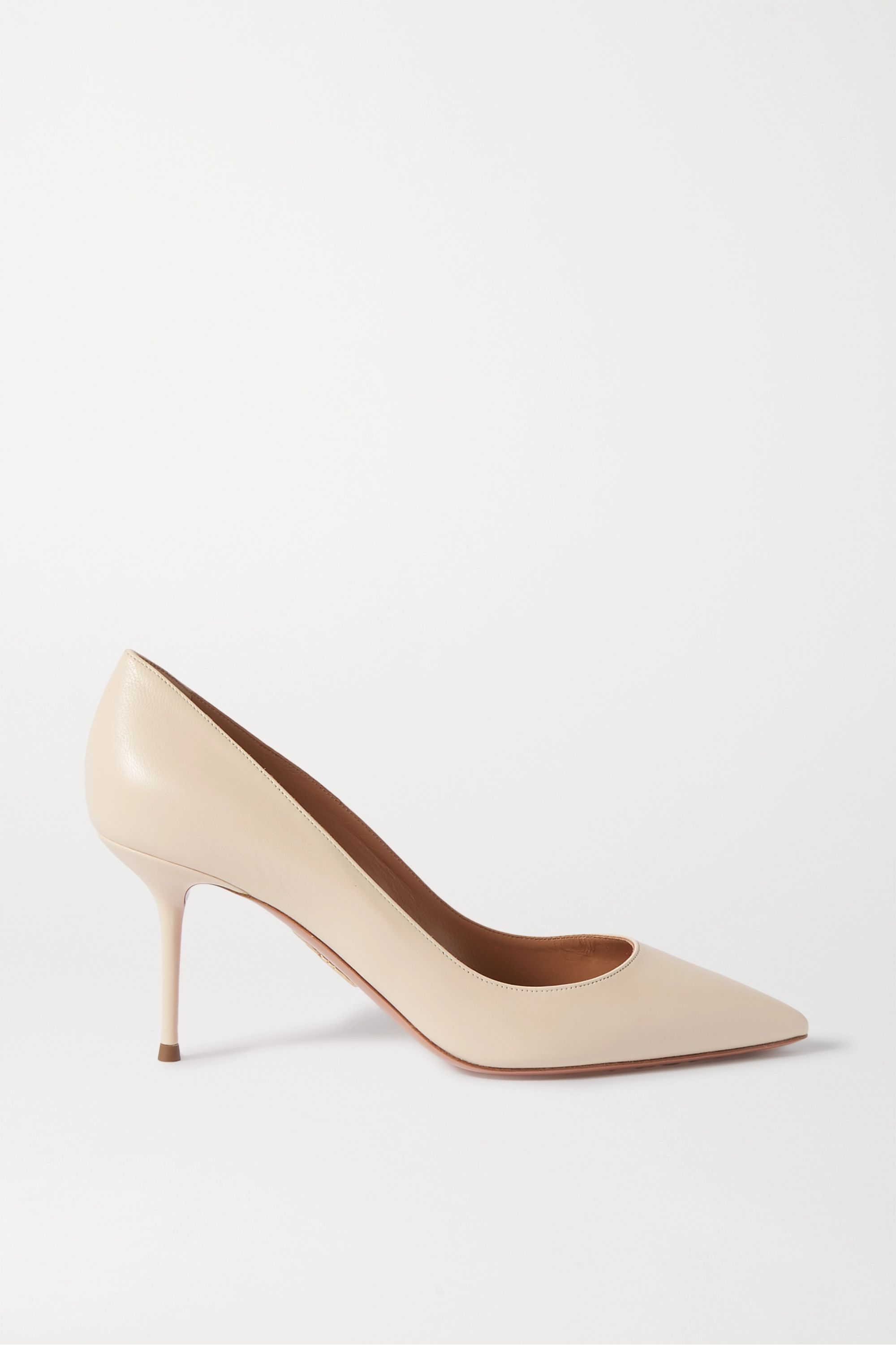 Aquazzura Purist 75 leather pumps