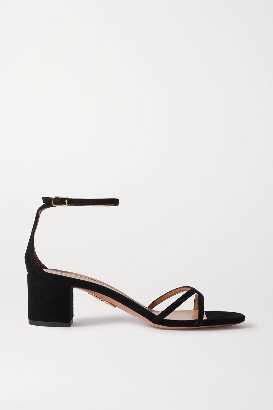 Aquazzura Purist 50 suede sandals