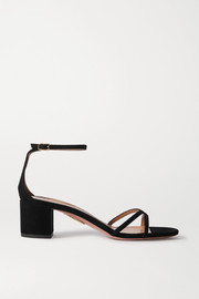 Aquazzura Purist 50 suede sandals
