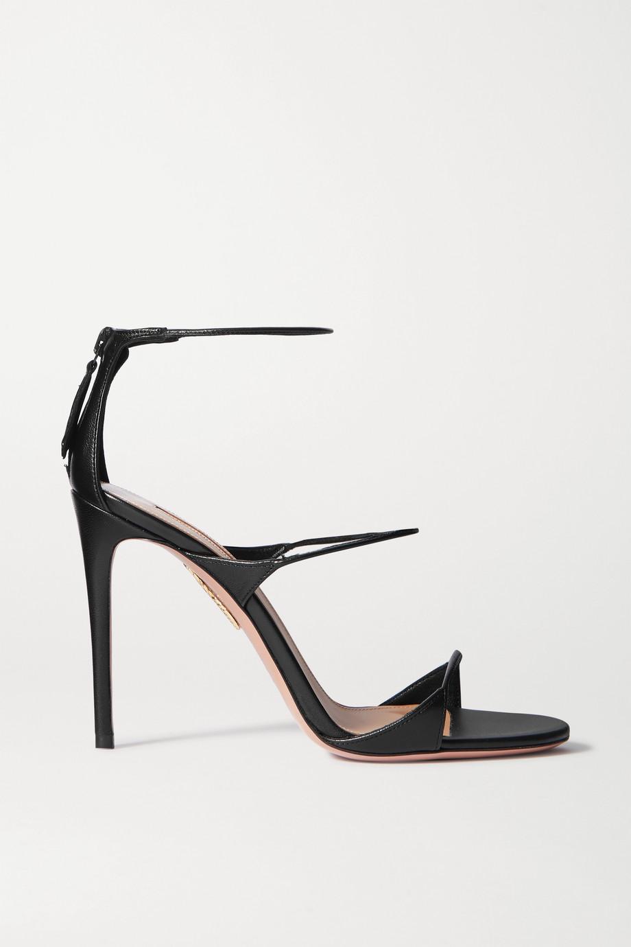 Aquazzura Minute 105 leather sandals
