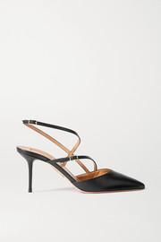 Aquazzura Carolyne 75 leather pumps