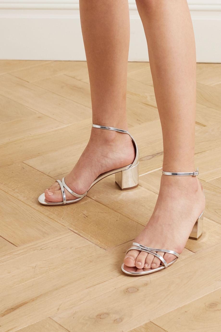 Aquazzura Sandales en cuir effet miroir Purist 50