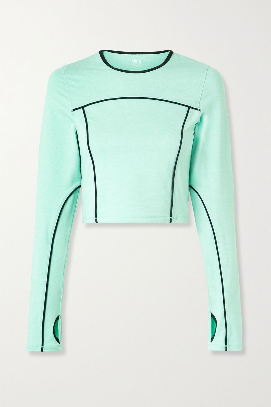 We Over Me Lotus cropped cutout stretch-jersey top