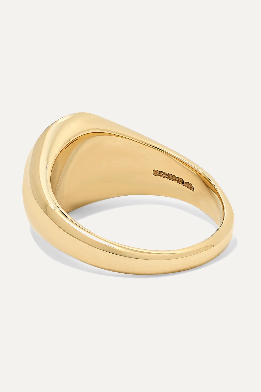 Anissa Kermiche Ring aus 14 Karat Gold mit Onyx und Diamanten