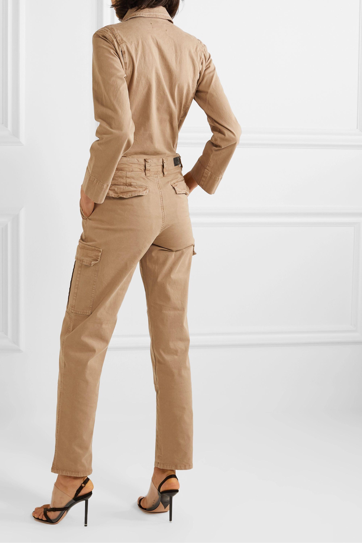 RtA Cisco belted cotton-blend jumpsuit