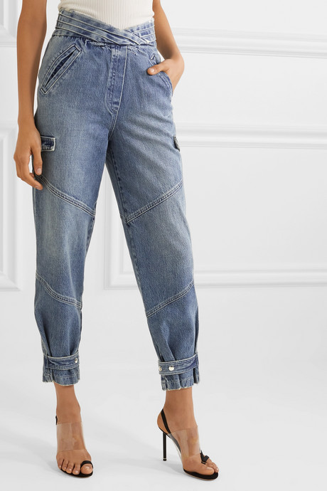 Dallas cropped high-rise tapered jeans