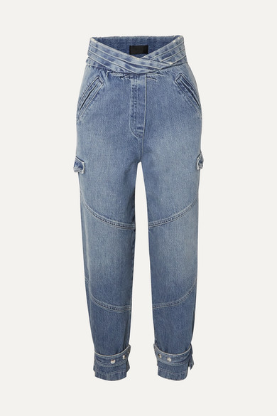 Dallas Cropped High Rise Tapered Jeans by Rt A