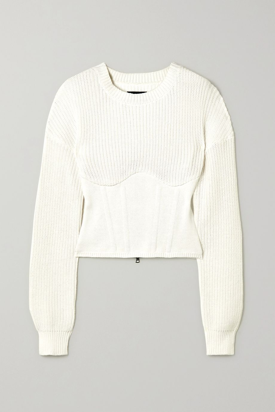 RtA Fitz ribbed cotton sweater