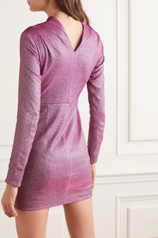 RtA Harper draped metallic jersey mini dress