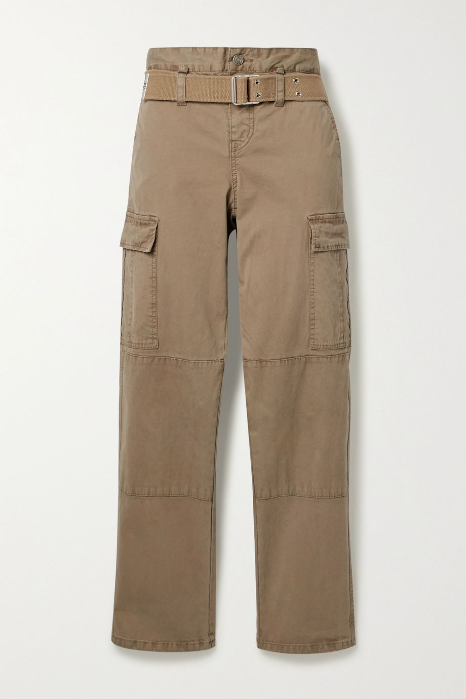 RtA Sallinger belted cotton-blend twill straight-leg cargo pants