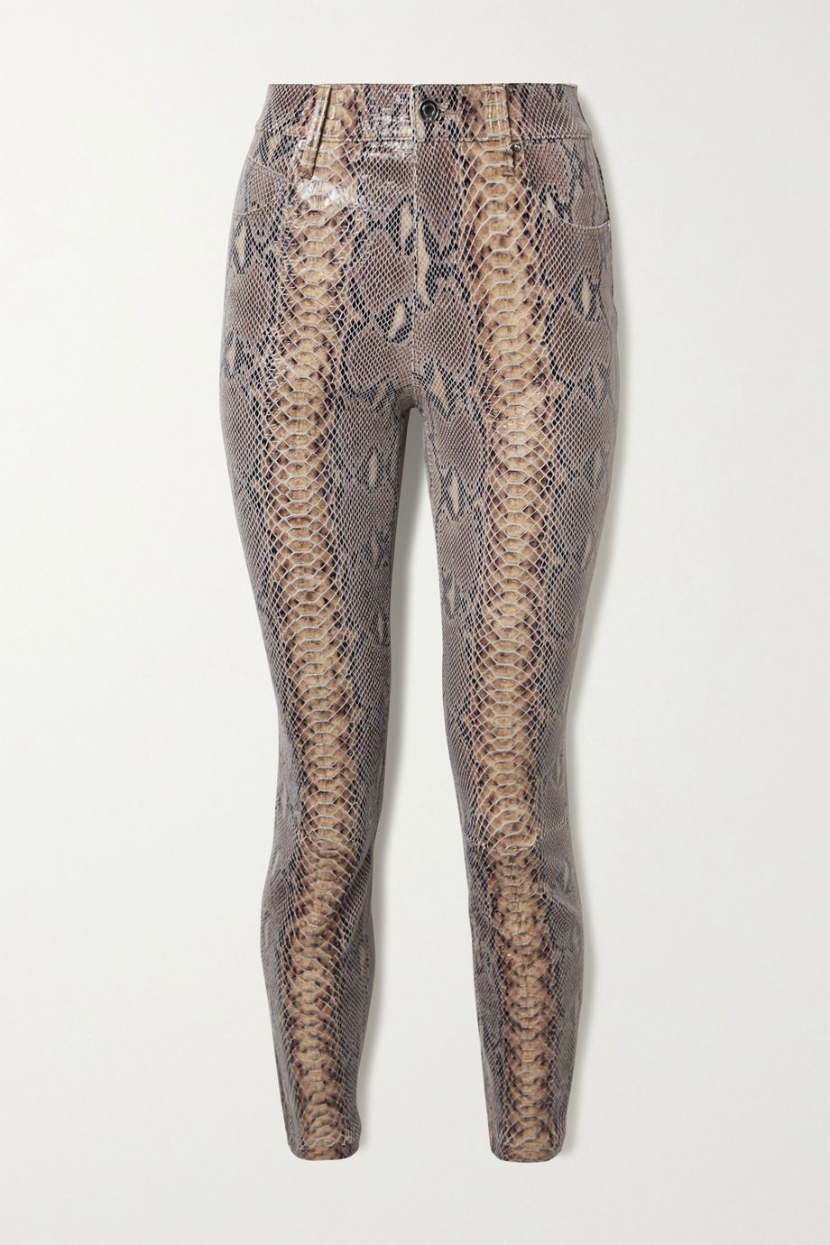 RtA Madrid snake-effect leather skinny pants