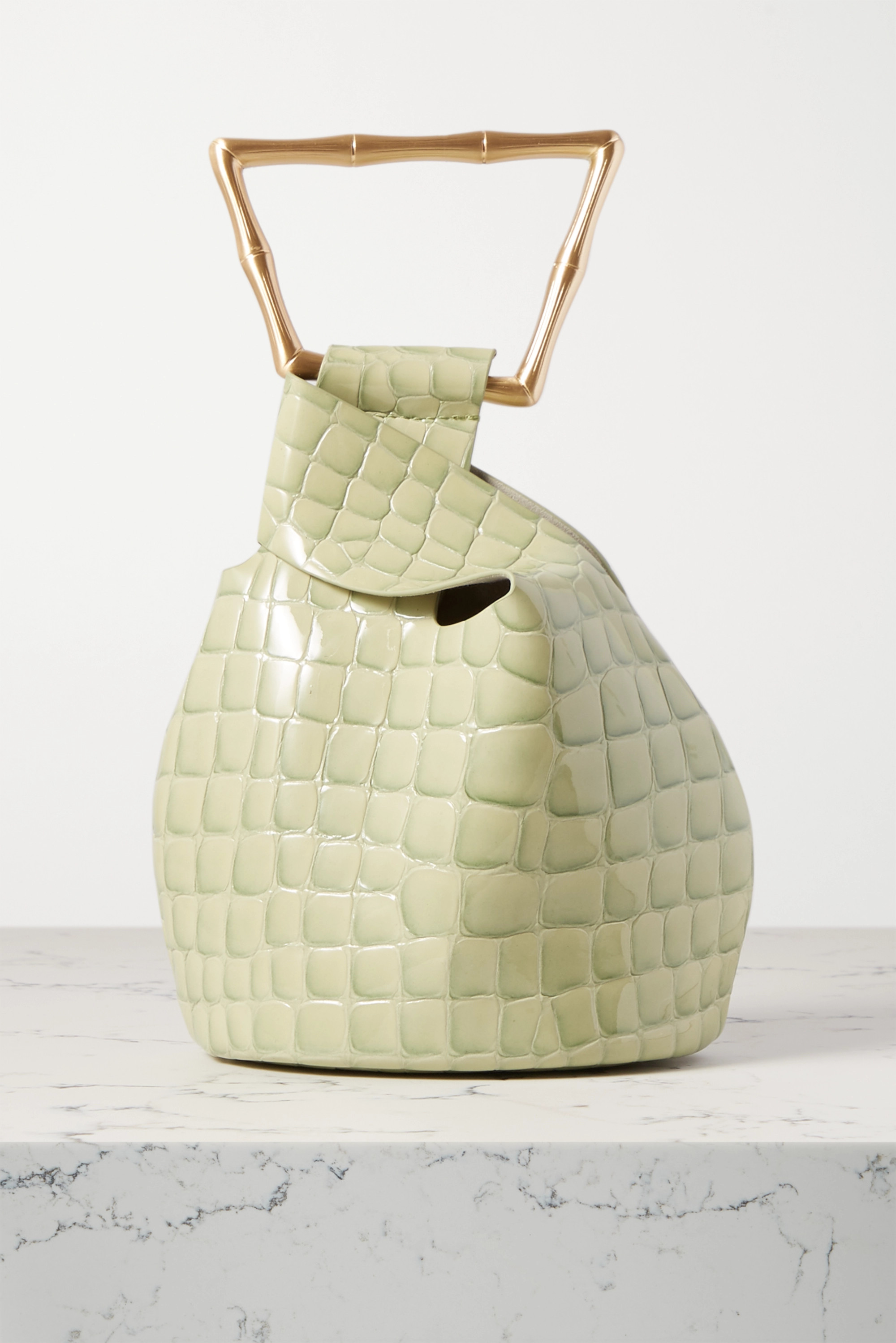 Cult Gaia Astraea mini croc-effect leather tote