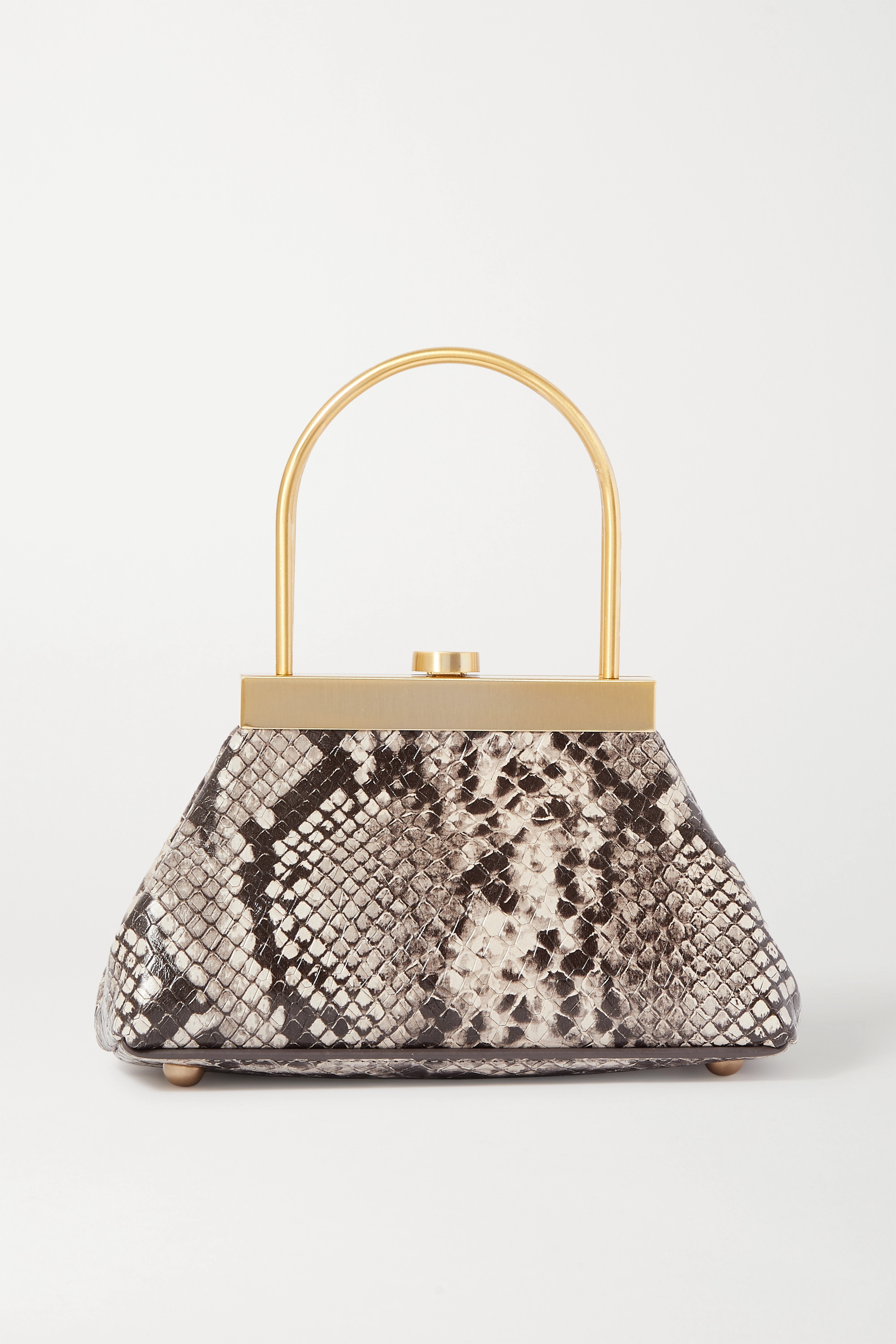 Cult Gaia Estelle mini snake-effect leather tote