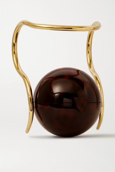 pearl-tortoiseshell-acrylic-and-gold-tone-tote by cult-gaia