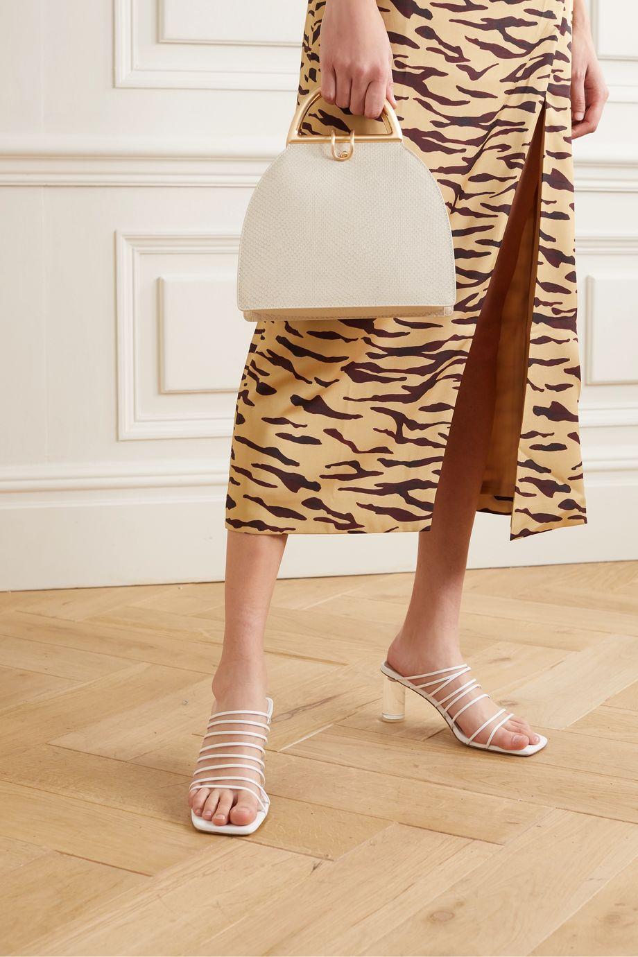 Cult Gaia Ziba snake-effect leather shoulder bag