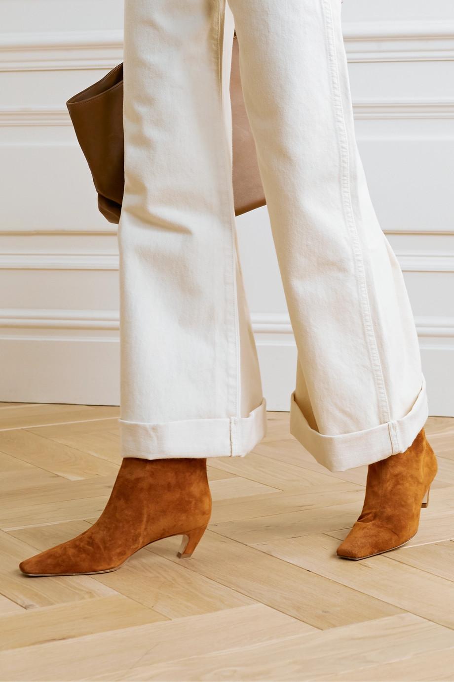 Khaite 绒面革踝靴