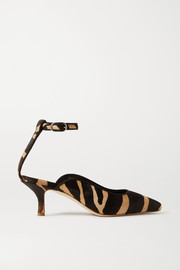 Khaite Zebra-print calf hair pumps