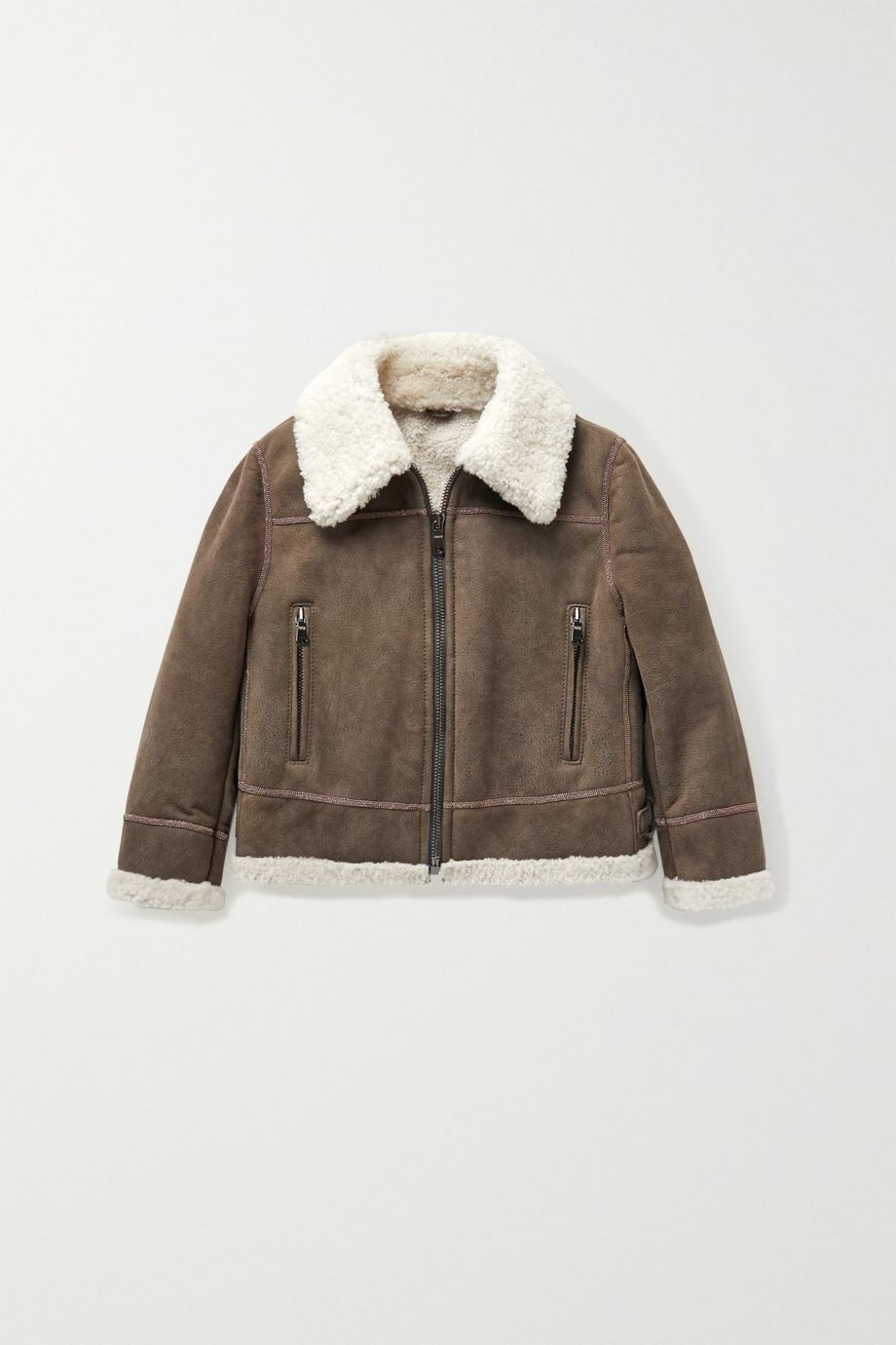 Brunello Cucinelli Kids Ages 4 - 6 shearling jacket