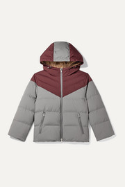 Brunello Cucinelli Kids Two-tone hooded quilted shell coat