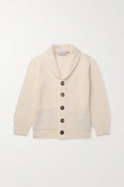 Brunello Cucinelli Kids Ages 4 - 6 ribbed cashmere cardigan