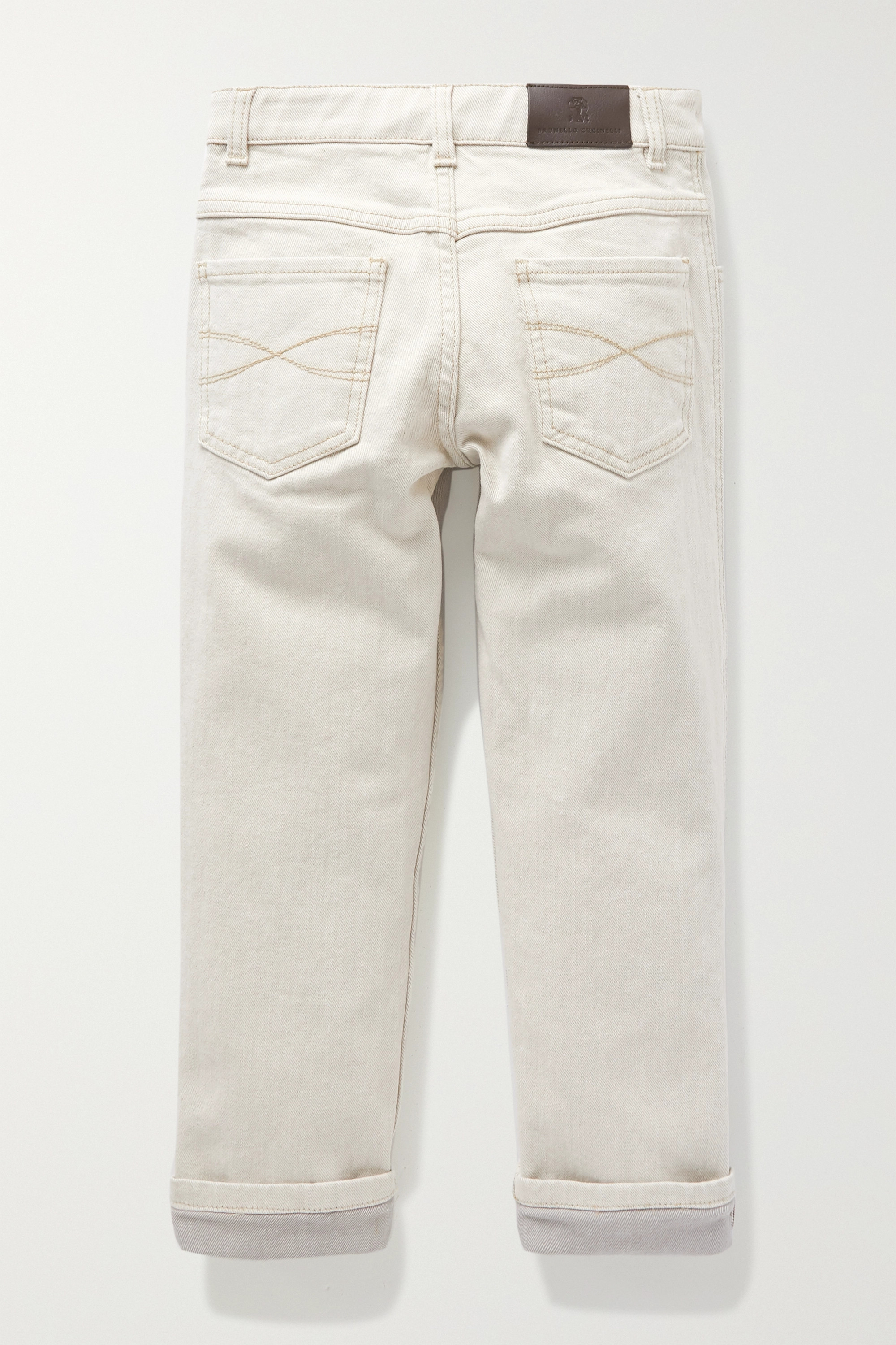 Brunello Cucinelli Kids Ages 8 - 10 bead-embellished jeans