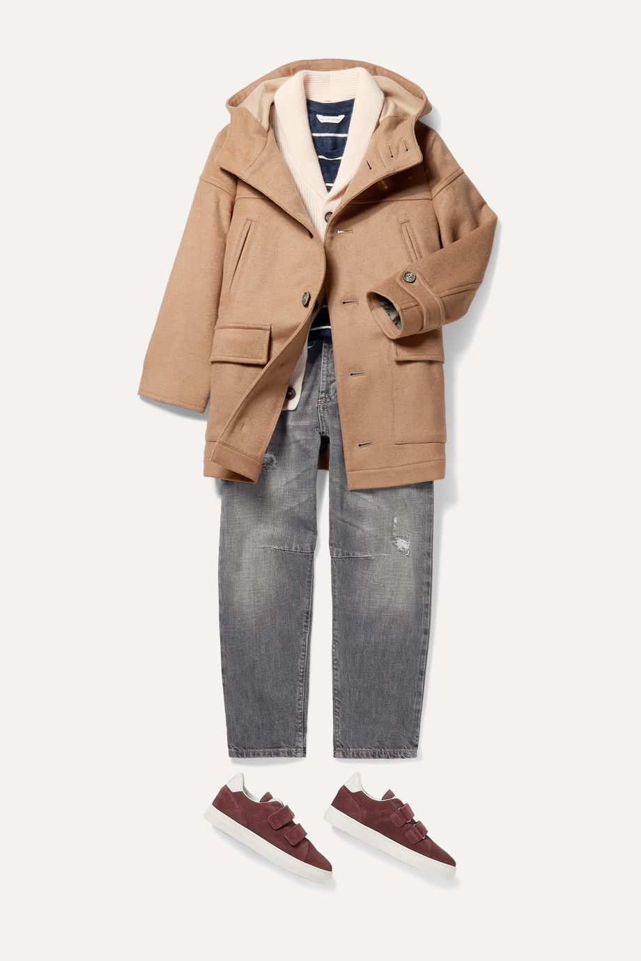 Brunello Cucinelli Kids Ages 8- 10 hooded cashmere-blend coat