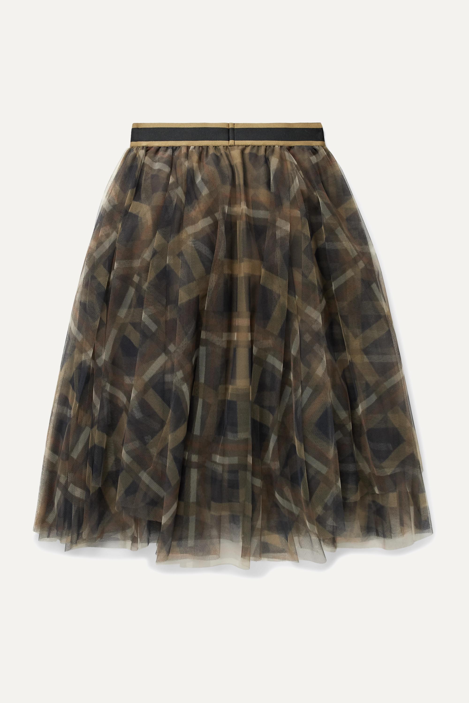 Brunello Cucinelli Kids Ages 8 - 10 plaid tulle skirt