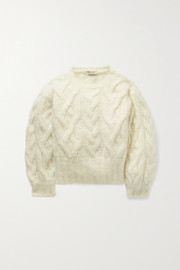 Brunello Cucinelli Kids Cable-knit cashmere-blend sweater