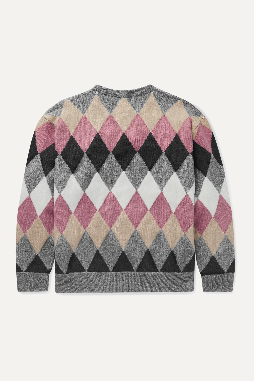 Brunello Cucinelli Kids Ages 8 - 10 sequin-embellished argyle wool-blend sweater