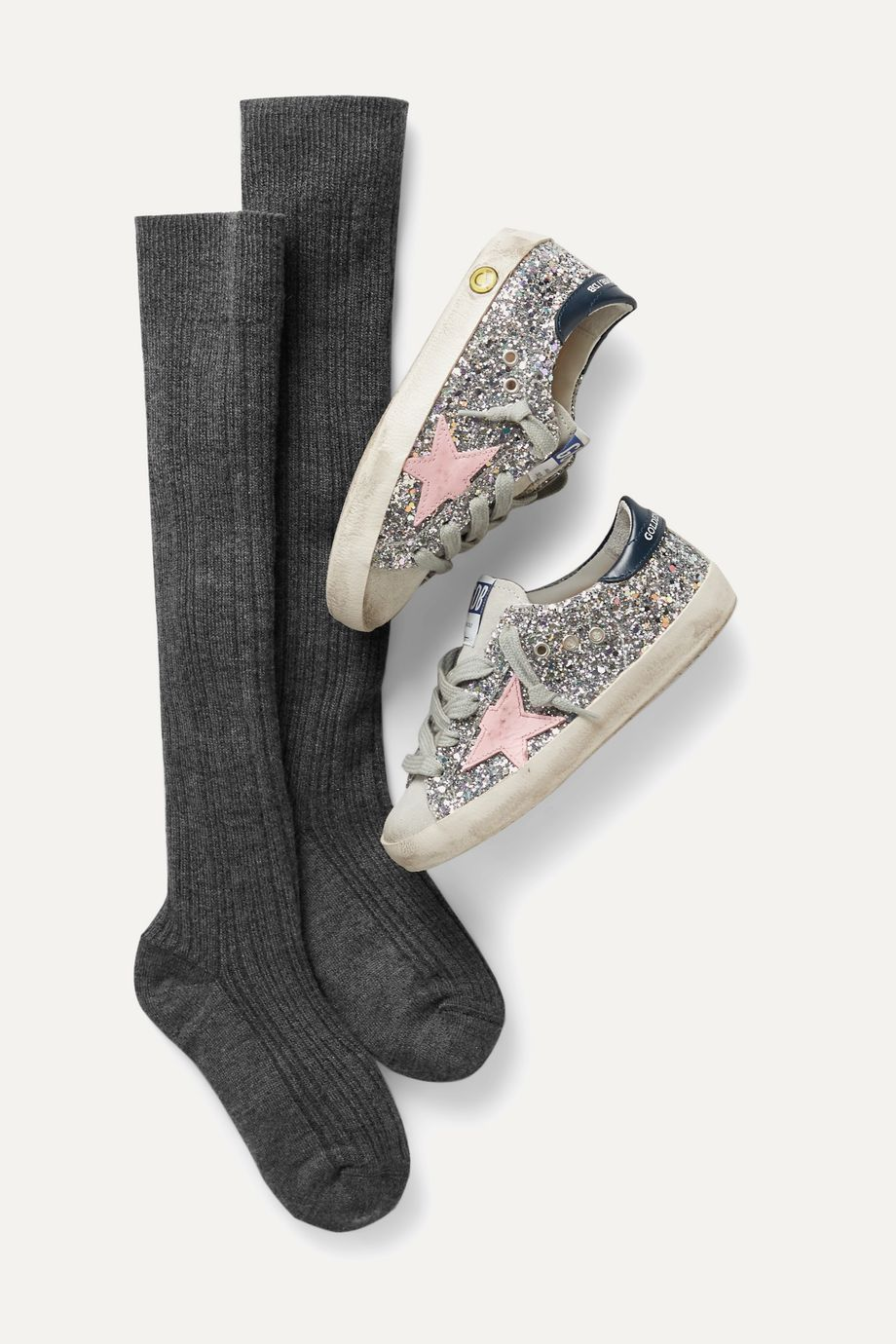 Brunello Cucinelli Kids Ages 4 - 10 ribbed cashmere-blend socks