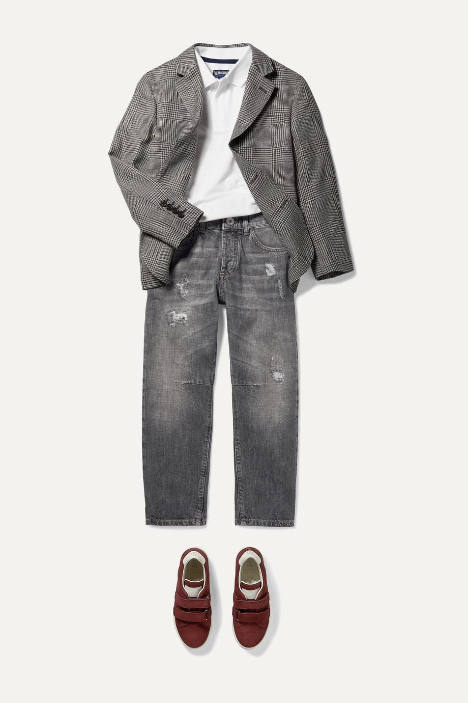Brunello Cucinelli Kids Ages 8 - 10 distressed denim jeans