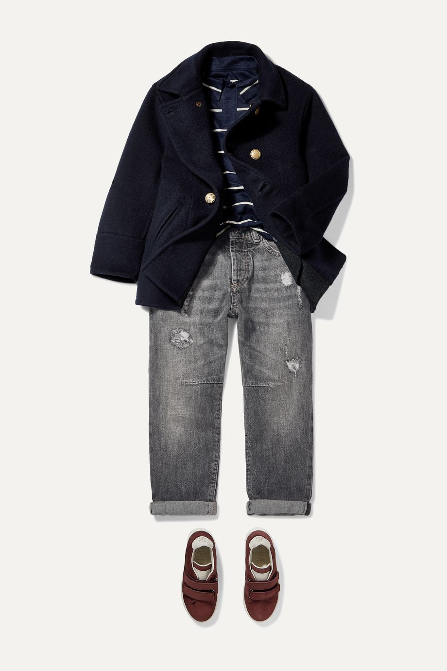 Brunello Cucinelli Kids Ages 4 - 6 distressed denim jeans