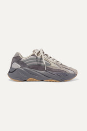 adidas Originals  Yeezy Boost 700 V2 mesh, suede and leather sneakers