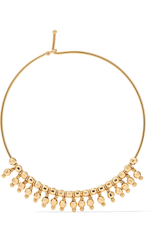 Mizuki 14-karat gold hoop earrings