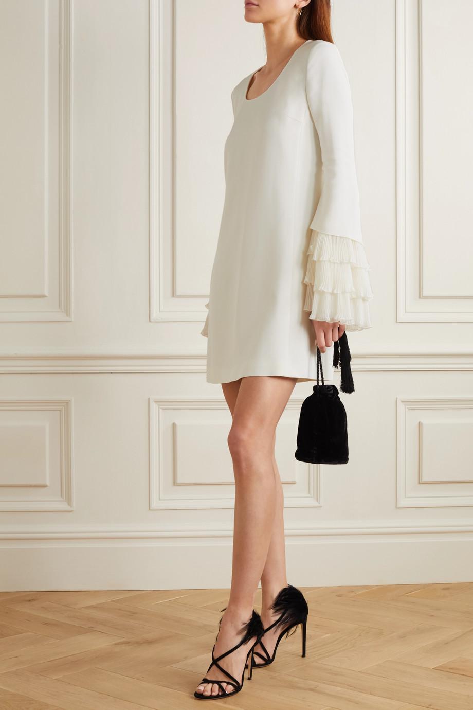 Giambattista Valli Ruffled plissé-silk and cady mini dress