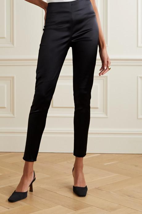 Arrow stretch-satin skinny pants