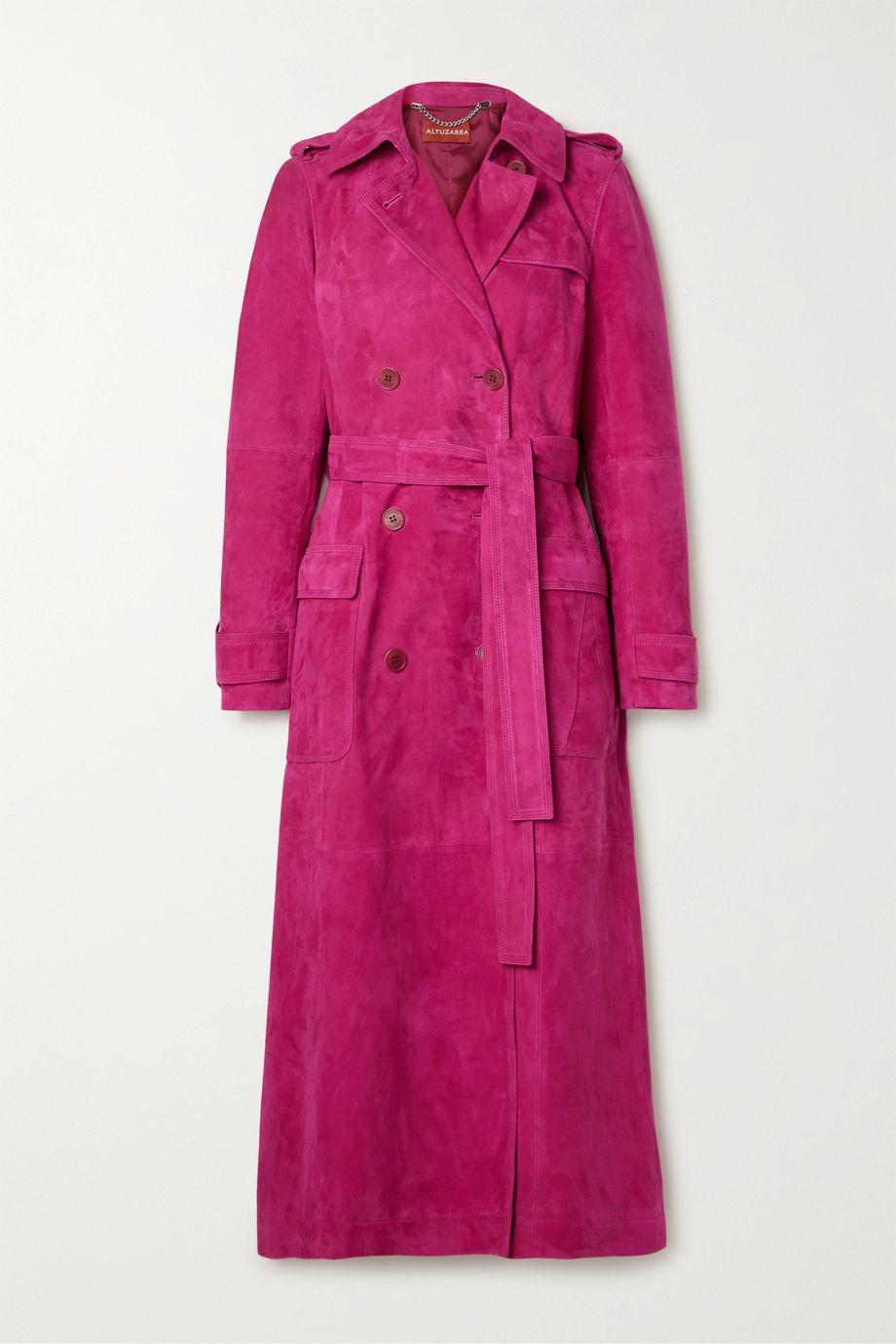 Altuzarra Bidwell belted suede trench coat
