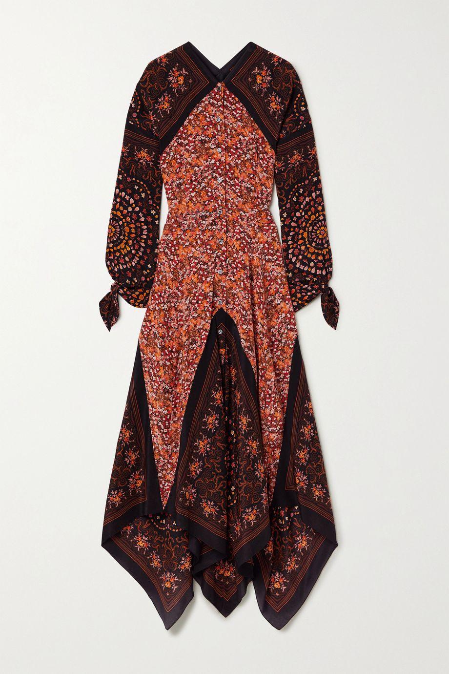 Altuzarra Northwest paneled floral-print silk crepe de chine dress