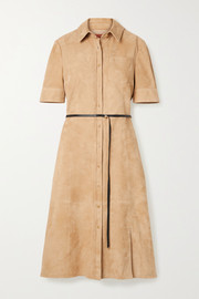 Kieran belted suede dress