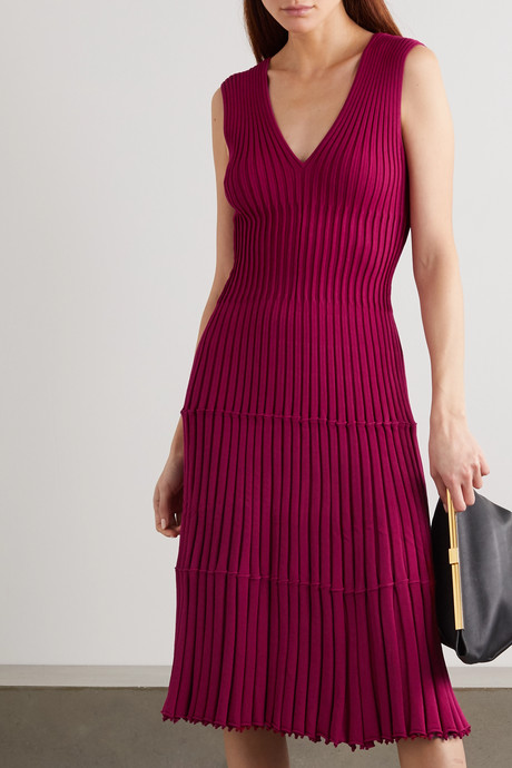 Riggs ribbed-knit dress